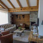 Wohnbereich im Penthouse der Mountain Lodge Leogang